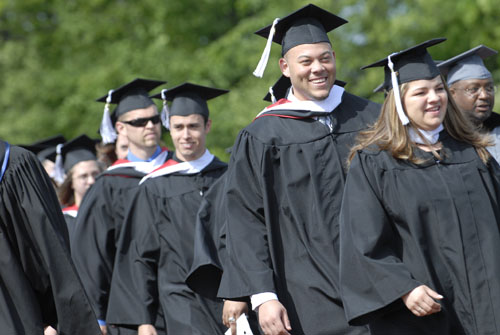 Benedictine University students at Commencement