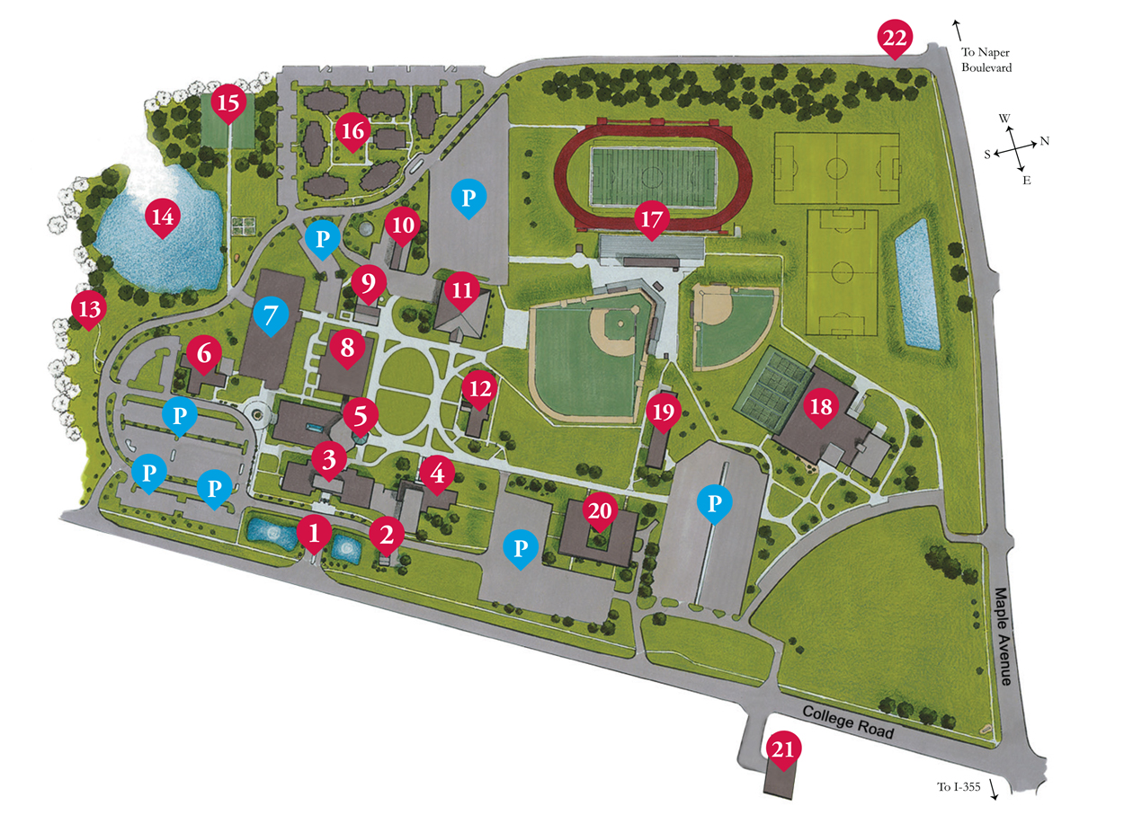 Illinois College Campus Map.Campus Location And Maps Benedictine Chicago Catholic Universities