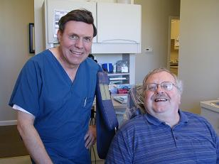 Dr. Rausch visited with dentist Bill Marchi ('78) in his office in Pensacola during his trip in March 2008 to Alabama & Florida.