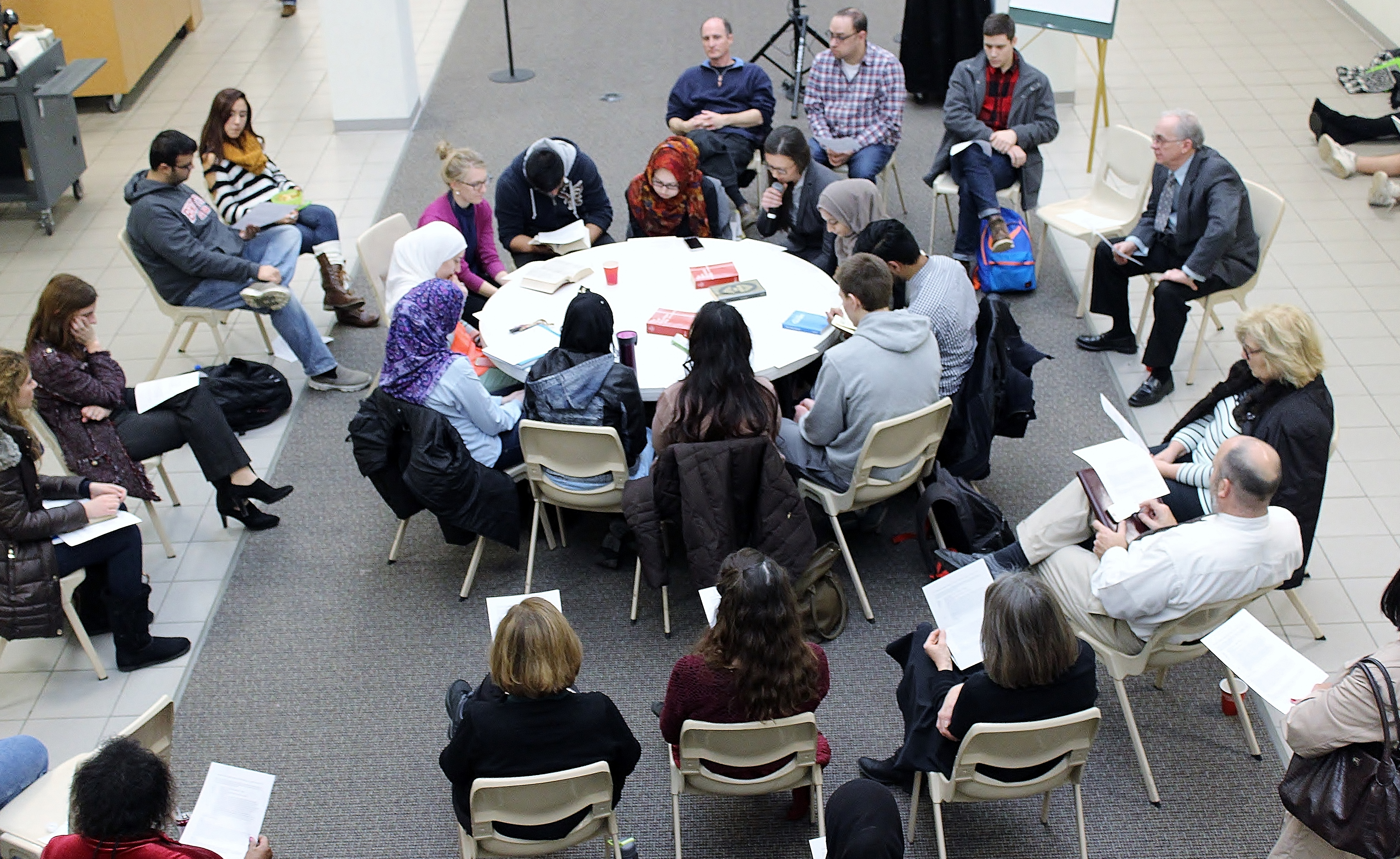 Catholic Muslim Dialogue hosted a Fishbowl conversation for the campus community