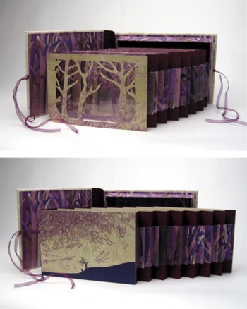 Book Art: Forest