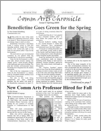 COMM Arts Chronicle