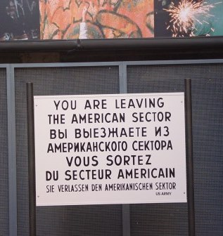 Sign in East Germany