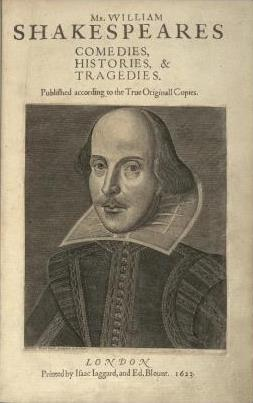 Shakespeare, First Folio
