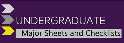 Undergraduate Major Sheets and Checklists button