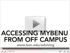 Accessing MyBenU from Off Campus video thumbnail