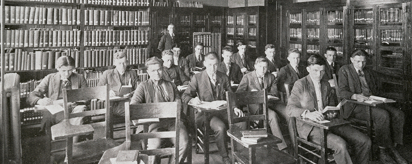 World War I era classroom