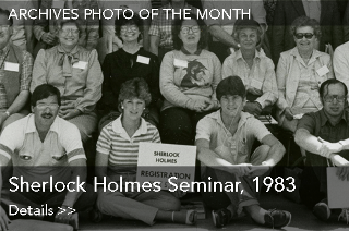 Archives Photo of the Month: Sherlock Holmes Seminar, 1983