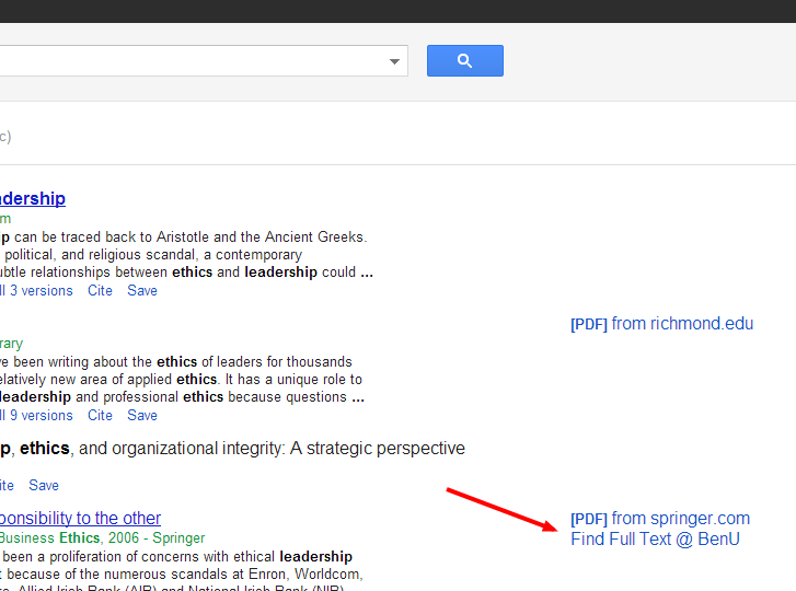 Google Scholar Links