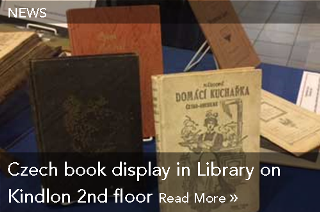 News: Czech book display in Library on Kindlon 2nd floor