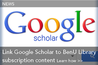 Link Google Scholar to BenU Library subscription content