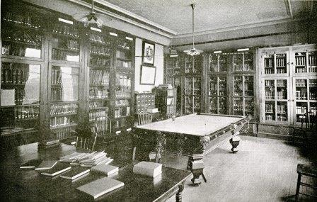 Library in Benedictine Hall, ca. 1901