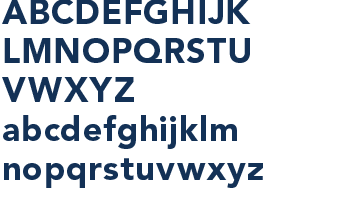 Avenir type specimen showing upper and lower case full alphabet