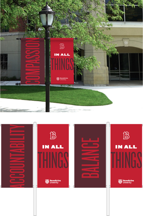 Outdoor campus banner inspiration examples
