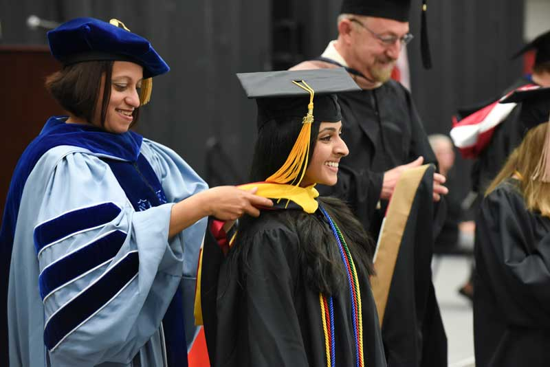 Students celebrated their special honors and achievements with faculty and staff during the Interfaith Baccalaureate Convocation held Friday evening at the Rice Center.