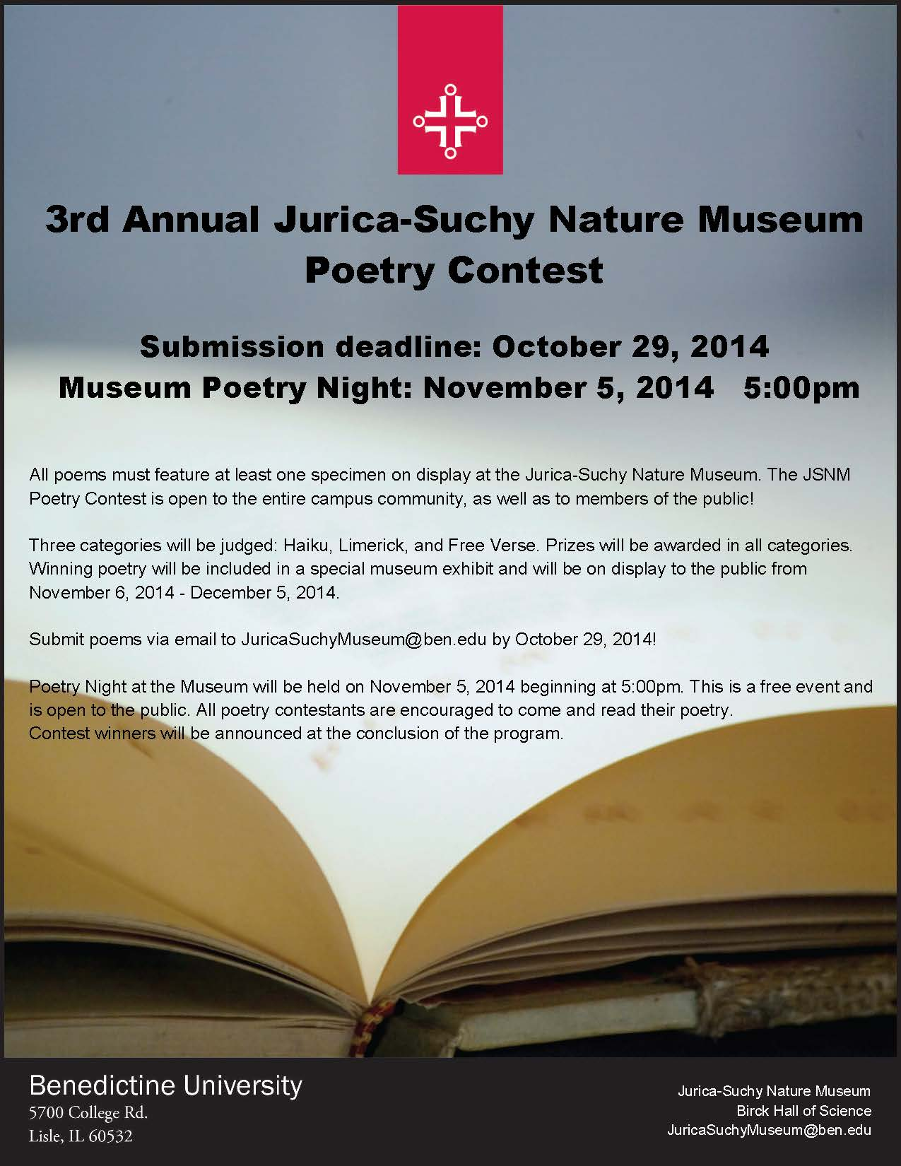 JSNM Poetry Contest 3rd Annual 2014