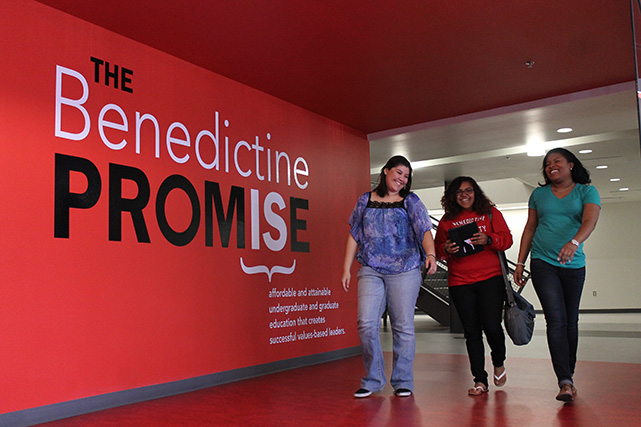 Benedictine University at Mesa students walk the halls of Gillett Hall