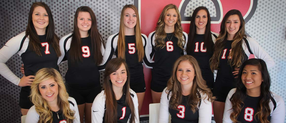 The 2015 Benedictine University at Mesa Women's Volleyball Team