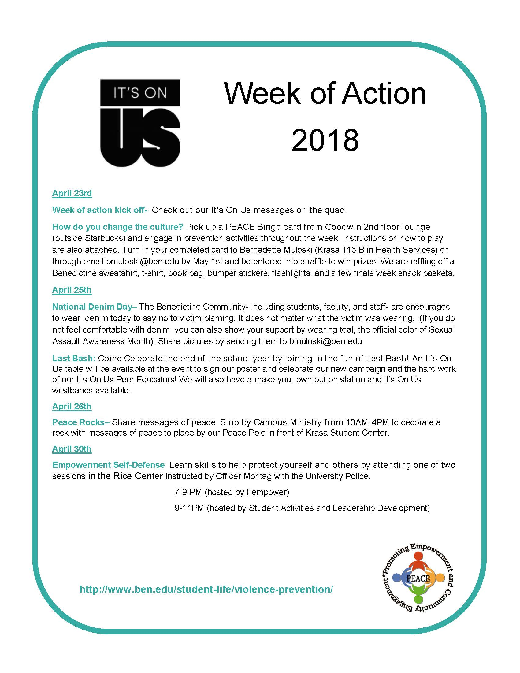Week of Action 2018