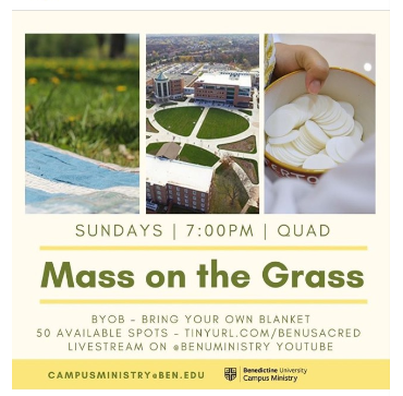 mass on the grass